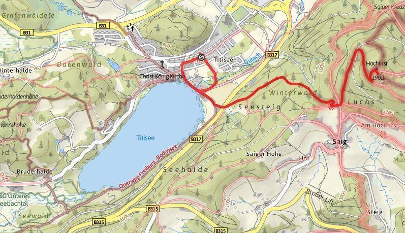 ruta lago titisee y hochfirst alrededores